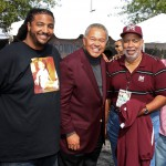 (Left to right) Brock Mayers, VP Atlanta Chapter Morehouse College Alumni Association; Dr. Robert M. Franklin, President Morehouse College; and Earl Nero, Executive Director of National Alumni Association.