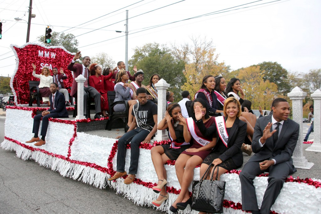 A gorgeous float carried the 2012 Homecoming Court in the parade.