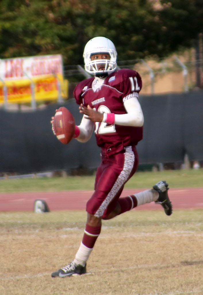 Morehouse College Quarterback Donnay Ragland during the 2012 Homecoming Game.