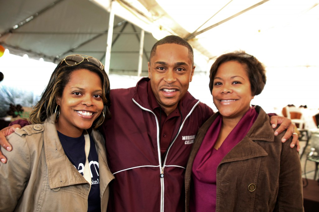 (Left to right) Alan Allen, Kevin McGee, President Morehouse College National Alumni Association; and Dionne McGee.