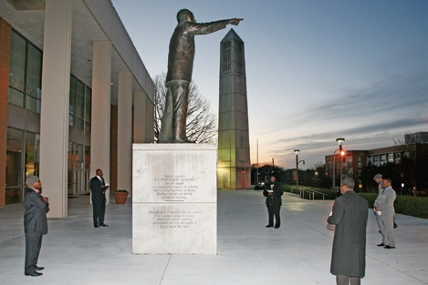 On  Sunday, January 20, 2013, participate in a prayer vigil led by the Martin Luther King, Jr. International Chapel Assistants held at the foot of the Martin Luther King Jr. statue.