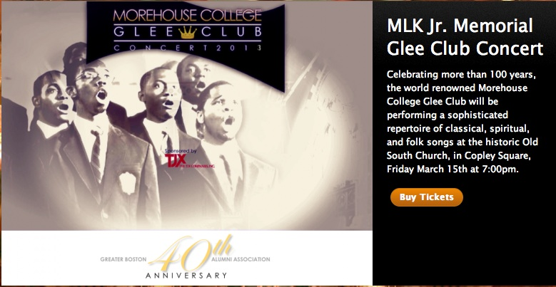 Click here to learn more about the Greater Boston Morehouse Alumni Association event in March featuring the Morehouse College Glee Club.