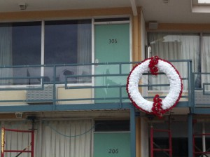 The balcony of the Lorraine Motel in Memphis, Tennessee.