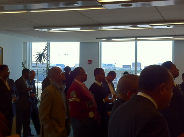 What a nice gathering - thank you to almost 100 alumni coming together to fellowship and support our Alma Mater!