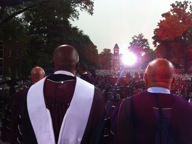A view from the stage the 2013 Morehouse College Commencement Exercises