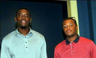 Ajanaku and Allen, from the PGA Minority Championship Morehouse Golf Team.