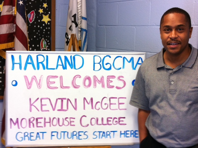 National President Kevin McGee at the Harland boys and girls club preparing for the rollout of the National BGCA partnership with the Morehouse College Alumni Association.