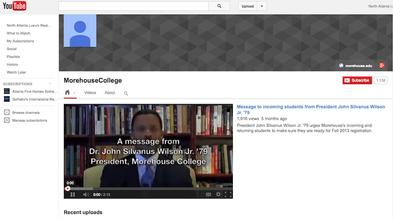 Morehouse College YouTube Channel