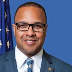 Cassius Butts '94, introduced fellow Alumnus Torre Jessup.  Once classmates at Morehouse, now both brothers serve at the pleasure of the President of the United States of America.