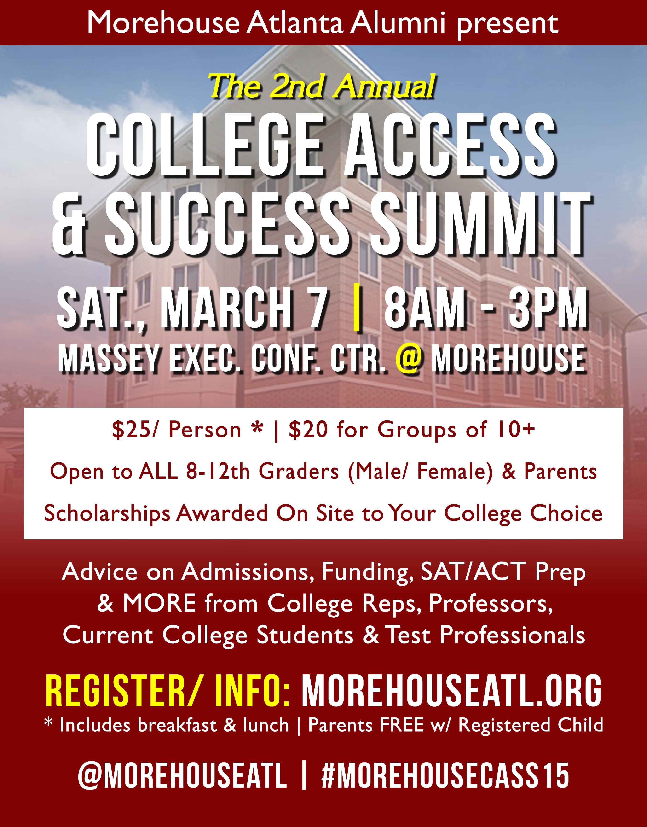 morehouse atlanta alumni to host college access and success summit morehouse atlanta alumni to host college access and success summit morehouse college alumni association